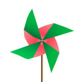 Colored Windmill  on white background. vector Stock Photography