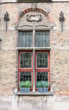 Colored window with lead glazing Royalty Free Stock Photos