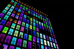 Free Colored Windows Texture. Neon Light Background Stock Photos - 115833393