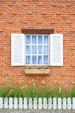 Colored windows on the wall background Stock Photography