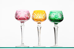 Colored wineglasses Royalty Free Stock Images