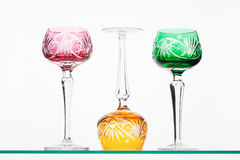 Colored wineglasses Royalty Free Stock Photo