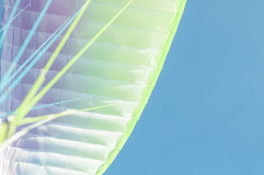 Colored wing and ropes close-up on blue sky Royalty Free Stock Image