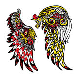 Colored Wings Set Royalty Free Stock Images