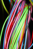Colored wire. Abstract background. Communication concept Stock Image
