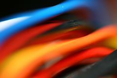 Colored wire Royalty Free Stock Image