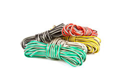 Colored wire bundles Stock Photography