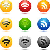 Colored Wireless Icons. Colored style wireless icon set stock illustration
