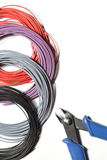 Colored wires Stock Photos