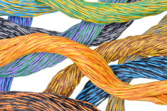 Colored wires of computer networks Royalty Free Stock Image