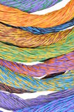 Colored wires of computer networks Stock Photos