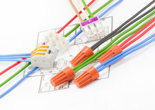 Colored wires Royalty Free Stock Image