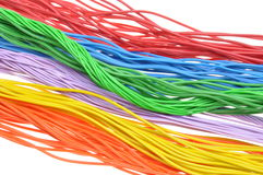 Colored wires Stock Photography