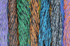 Colored wires in the global networks Stock Photo