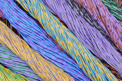 Colored wires in the global networks Royalty Free Stock Photos