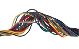 Free Colored Wires Isolated On White Background Royalty Free Stock Photography - 191885587