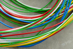 Colored wires network Royalty Free Stock Photography
