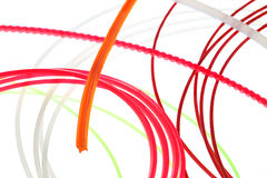 Colored wires twisted Stock Image