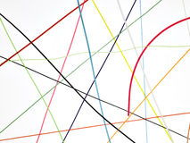Colored wires twisted Royalty Free Stock Image