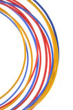 Colored wires used in electrical and computer networks Stock Image