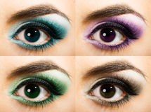 Colored Womanish Eye Stock Photography