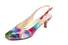 Colored women's shoes Royalty Free Stock Photo
