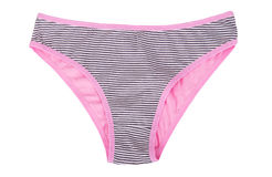 Colored women's striped panties Royalty Free Stock Images