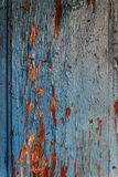 Colored wood background with peeling old paint Stock Photo