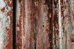 Colored wood background with peeling old paint Stock Photography
