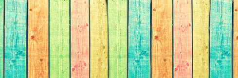 Colored Wood Panels Stock Images
