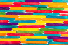 Colored wood sticks Royalty Free Stock Images