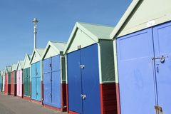 Colored Wooden Beach Huts Royalty Free Stock Photos