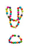 Colored wooden beads Stock Photo