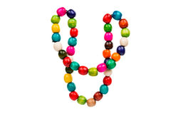 Colored wooden beads Royalty Free Stock Images