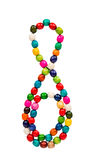Colored wooden beads Stock Images