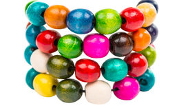 Colored wooden beads Royalty Free Stock Image