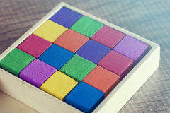 Colored wooden blocks Royalty Free Stock Photography