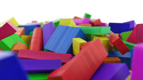 Colored wooden blocks Royalty Free Stock Image
