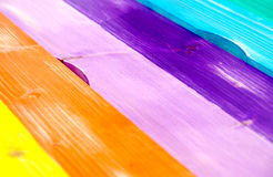 Colored wooden board Royalty Free Stock Image