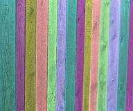 Colored wooden fence Stock Image