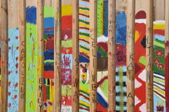 Colored wooden fence Stock Photography