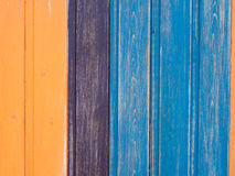 Colored wooden fence background Royalty Free Stock Photography