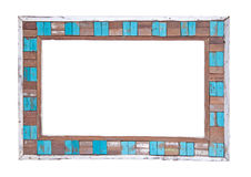 Colored wooden frame Stock Image