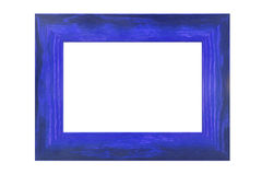 Colored wooden frame. On white background Royalty Free Stock Photos