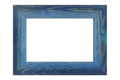 Colored wooden frame. On white background Stock Images