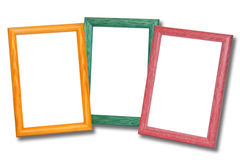 Colored wooden frames Royalty Free Stock Photos