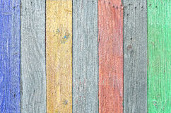 Colored wooden panel Stock Images