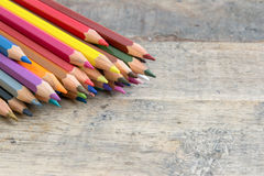 Colored wooden pencils Royalty Free Stock Photo