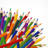 Colored wooden pencils Royalty Free Stock Photography
