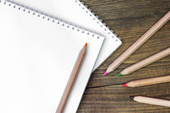 Colored wooden pencils Stock Images